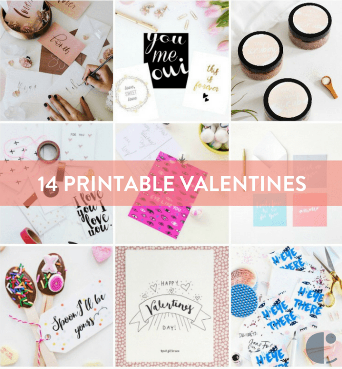 14 Hand-lettered Valentines To Print & Gift Your Love