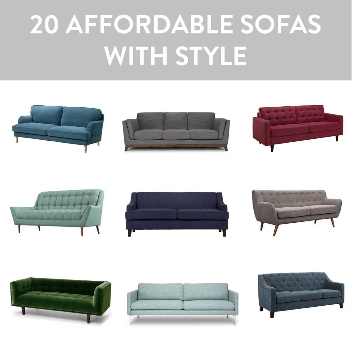 20 couches that won't break the bank!