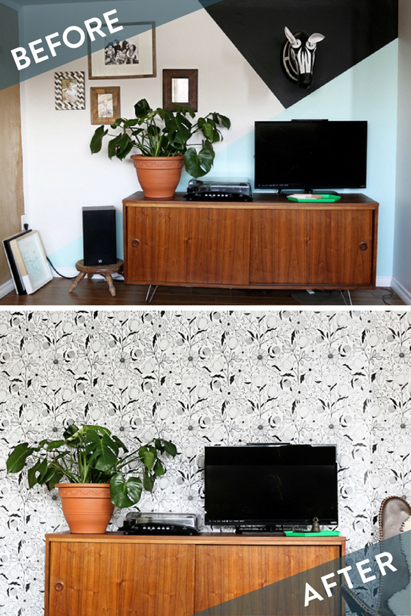 How to: Give Your Space a Scandinavian- Inspired Vibe with Removable Wallpaper
