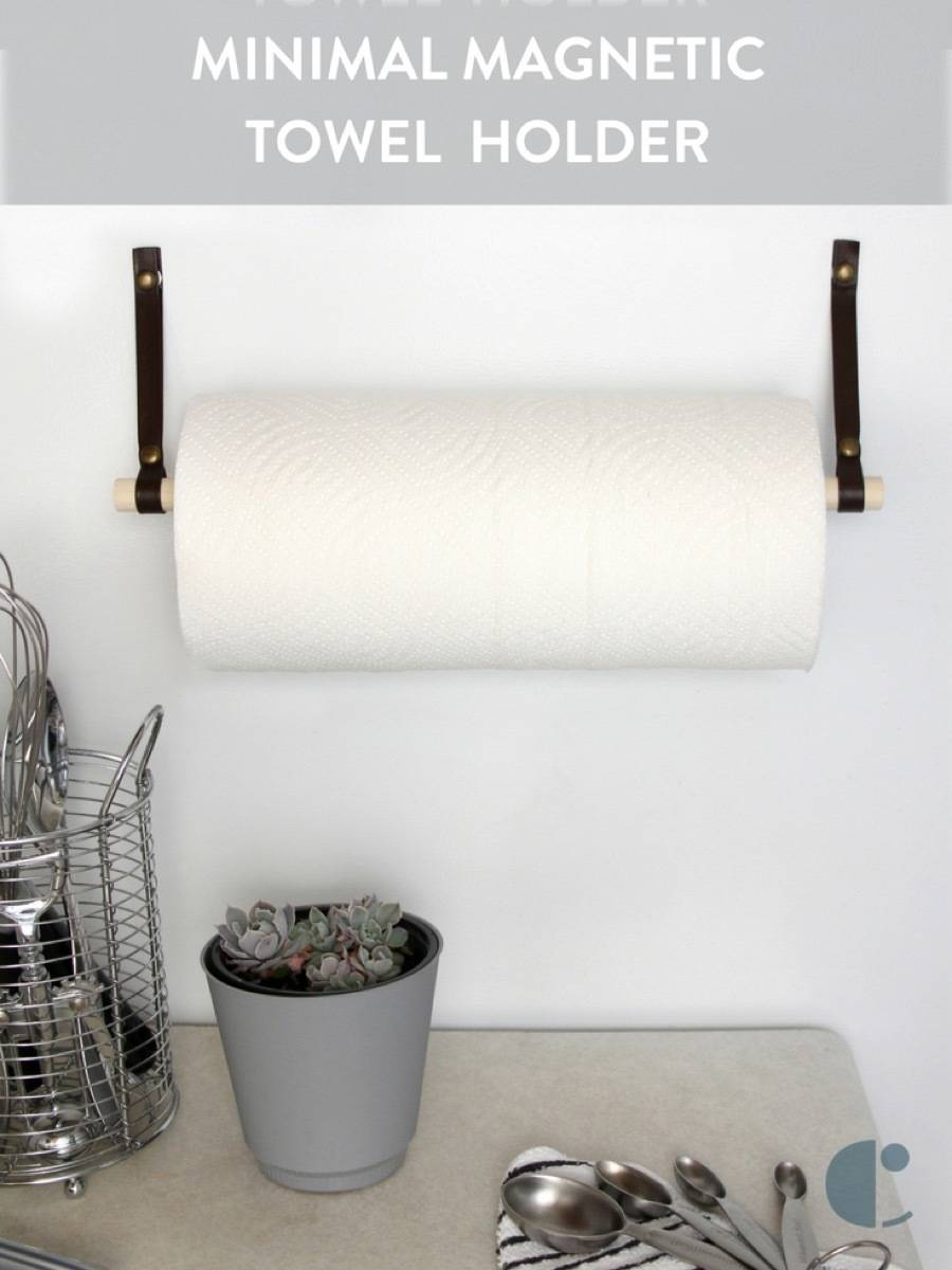 DIY This: Make a paper towel holder that conveniently stores on the refrigerator.