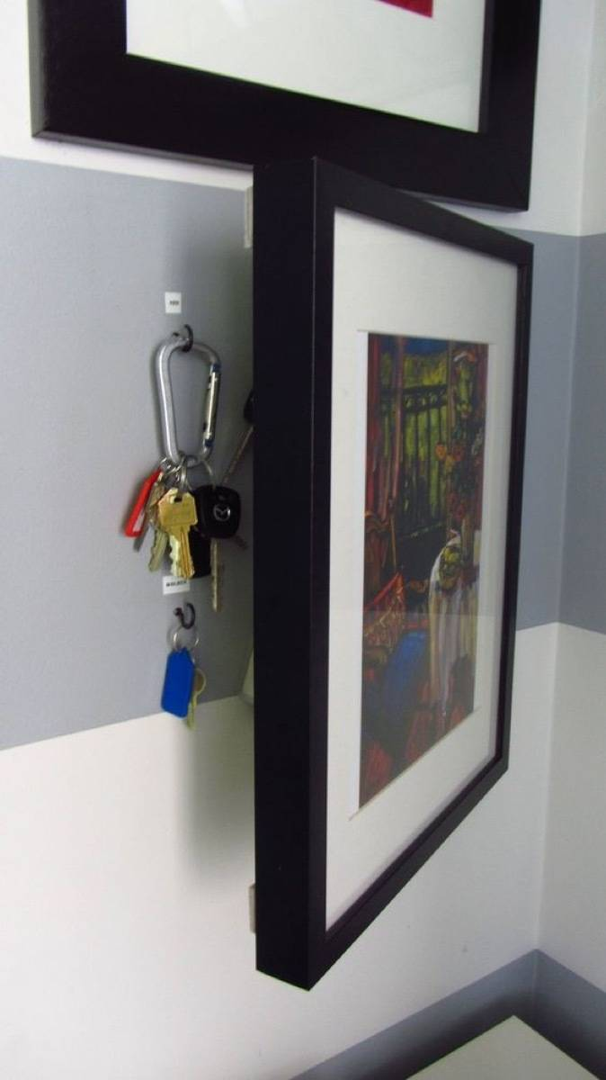 Hidden Key Storage | 72 Organization Tips and Projects for Every Space in Your Home