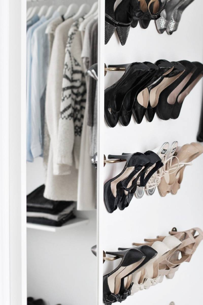 Hang those heels to prevent scuffing | 72 Organization Tips and Projects for Every Space in Your Home