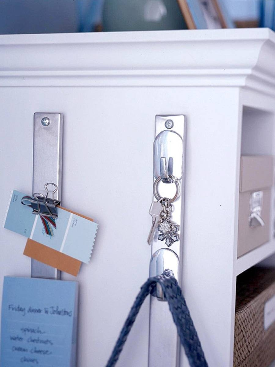 Magnetic Knife Hooks do Double-Duty | 72 Organization Tips and Projects for Every Space in Your Home