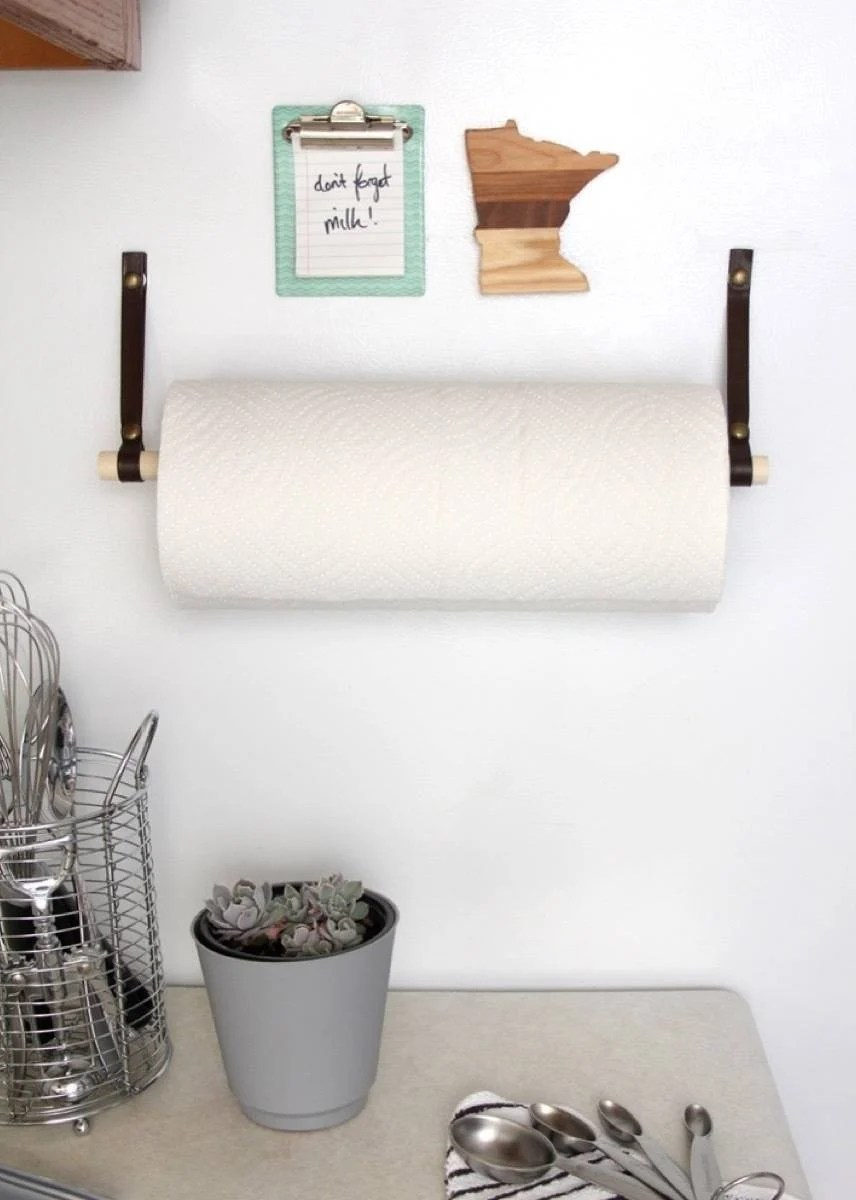 DIY Magnetic Paper Towel Holder | 72 Organization Tips and Projects for Every Space in Your Home