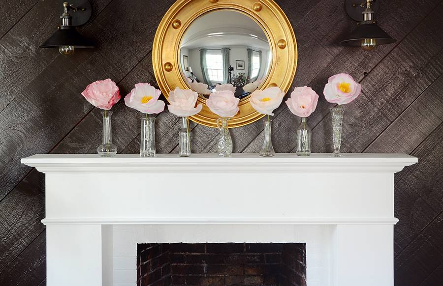 Curbly Original: Charming Paper Flower Easter Mantel