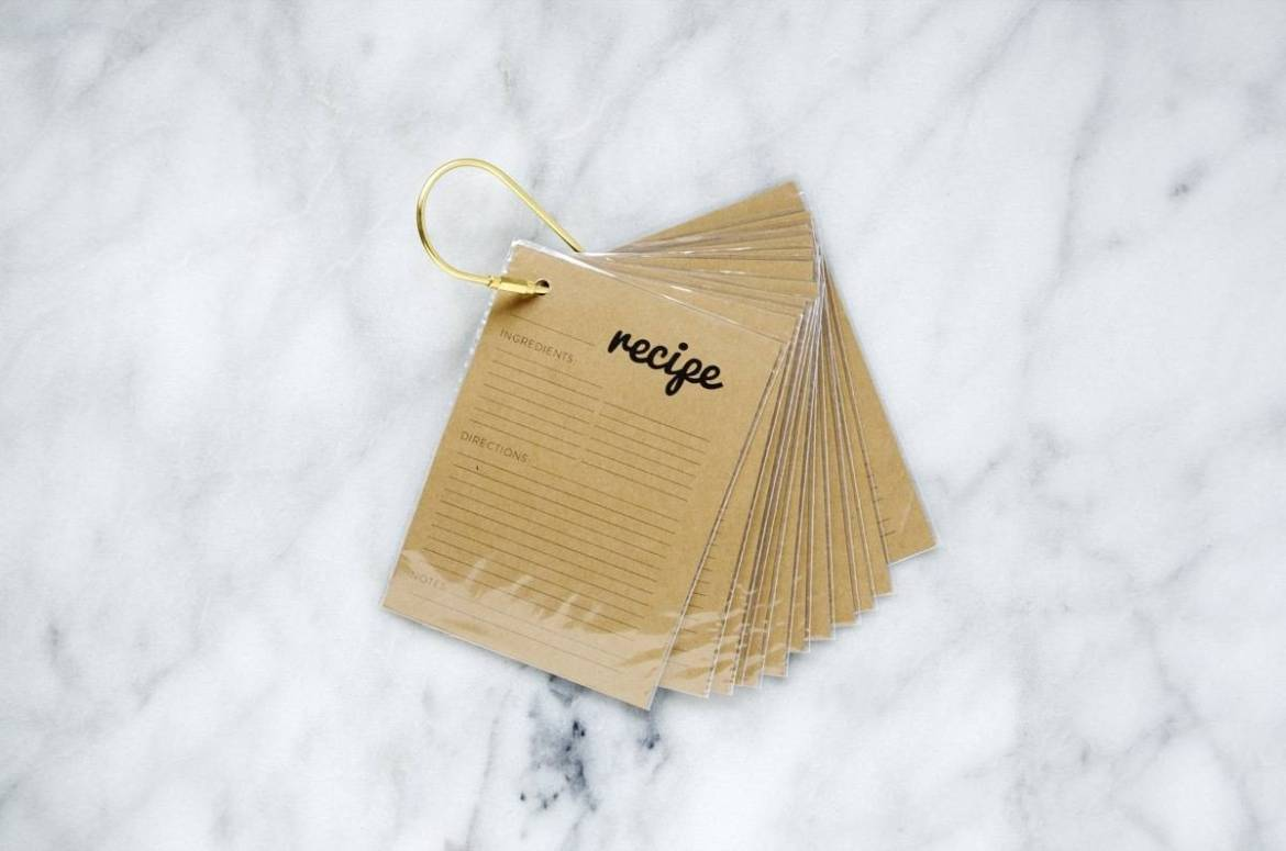 How to make a key ring recipe card holder, plus free printable recipe cards