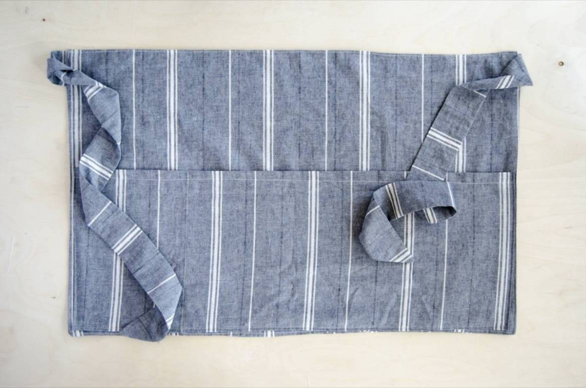 Half apron tutorial: Straight lines, easy cuts, fast to make
