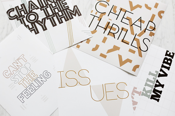 5 Free Typographic Downloads Based on Popular Hits this Summer