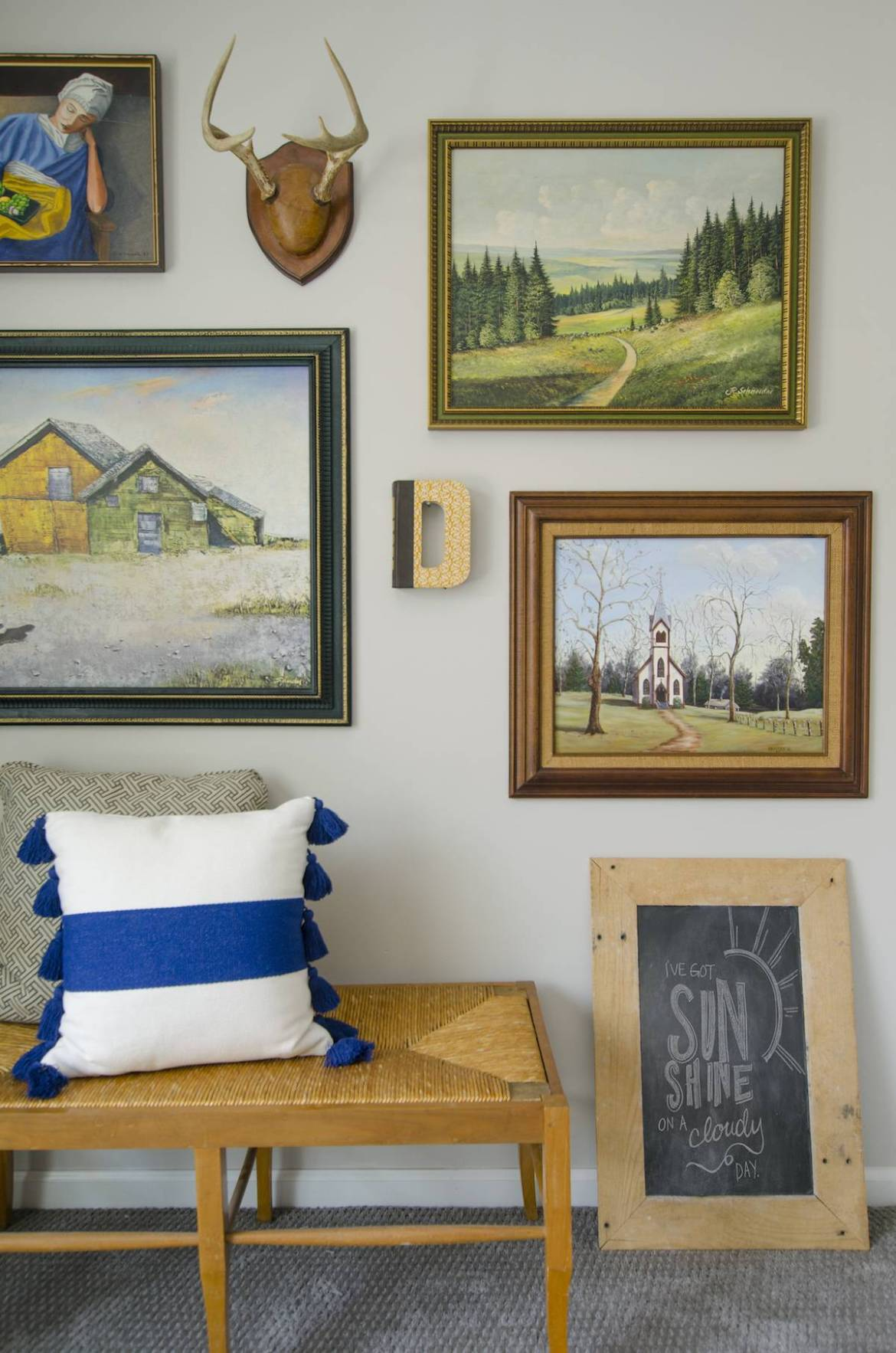 Rustic Eclectic Gallery Wall