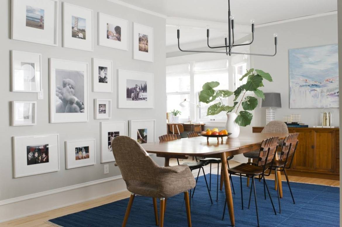 Curbly House Dining Room Gallery Wall of Family Photos