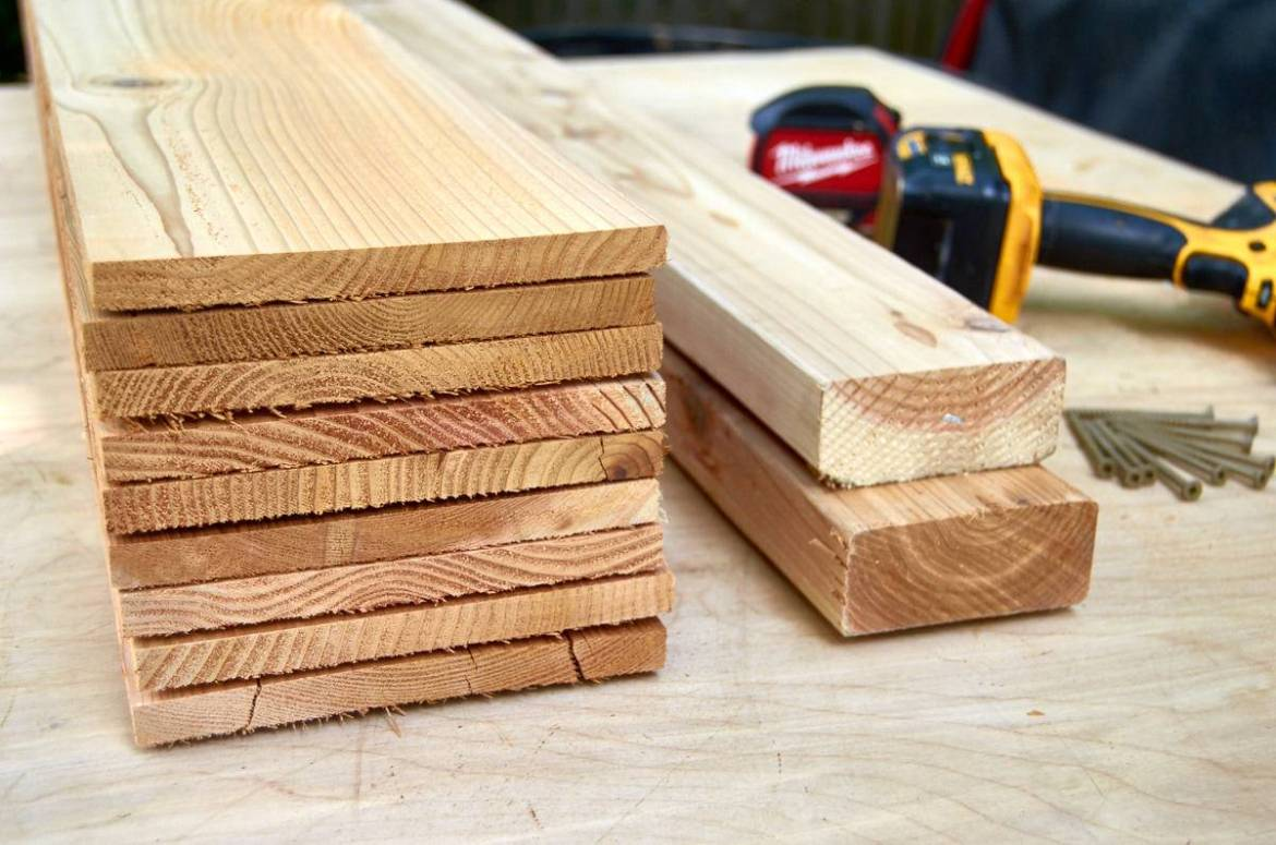 cedar fence pickets planed down, materials for privacy wall