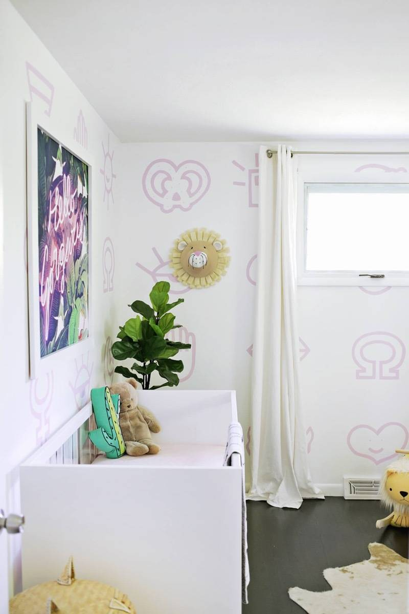 Wall art idea from A Beautiful Mess | 75 DIY Kids Decor Ideas