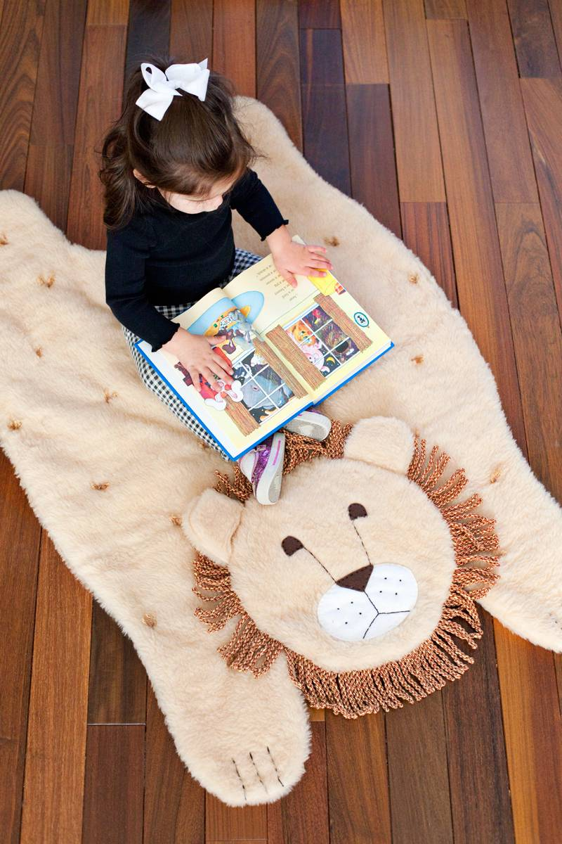 Fun rug idea from A Beautiful Mess | 75 DIY Kids Decor Ideas