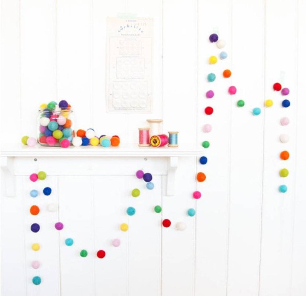 Kids garland idea from DIYProjects.com | 75 DIY Kids Decor Ideas