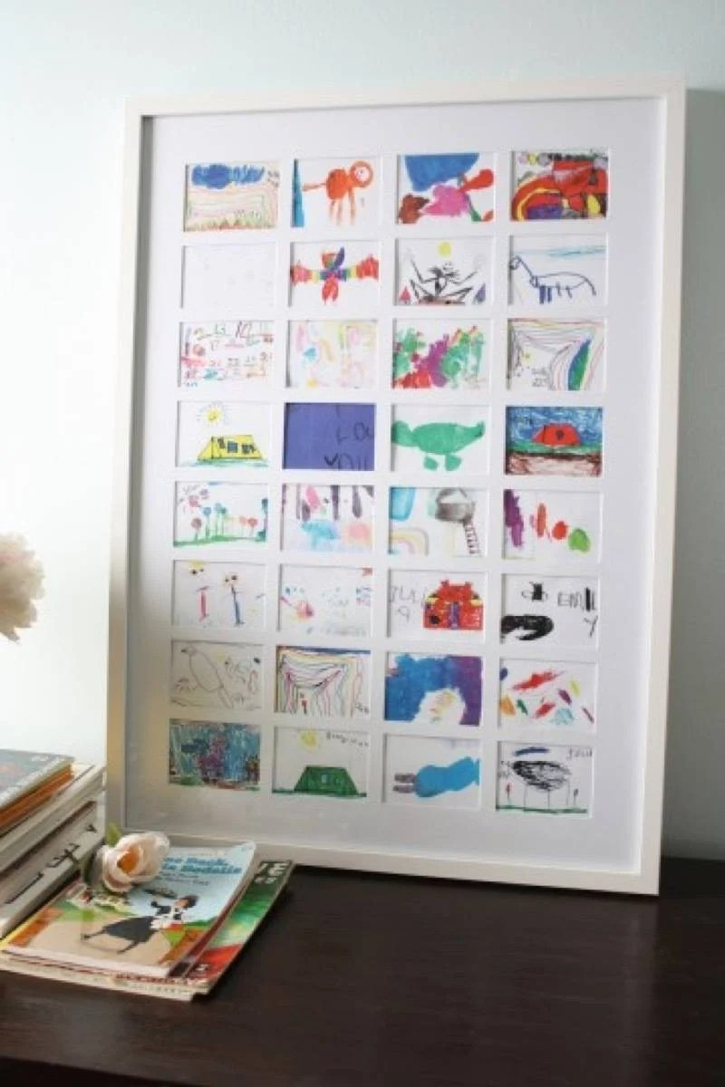 Wall art idea from Merry Pad | 75 DIY Kids Decor Ideas
