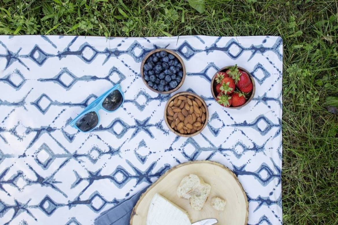 Sew up a summer picnic blanket - it's waterproof on the bottom!