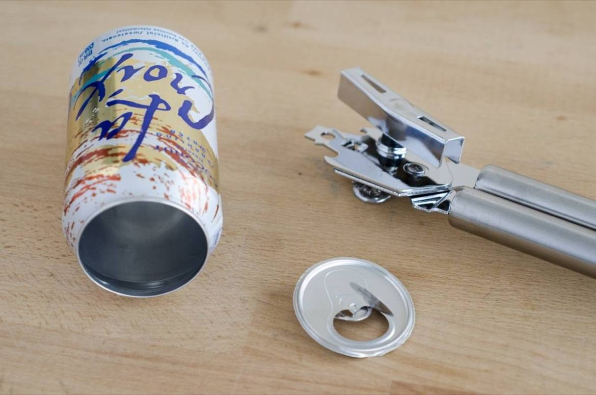 How to safely remove the top of a soda can
