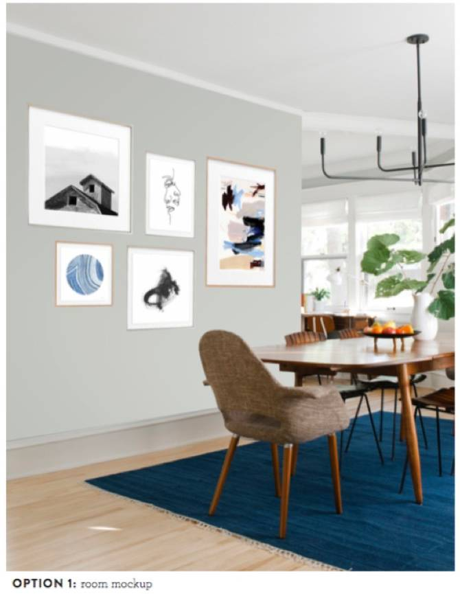 Curbly + Minted Dining Room Art Accent Wall
