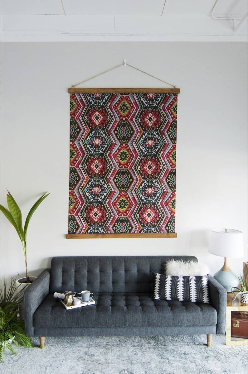 99 ways to use fabric to decorate your home   Create custom framed art
