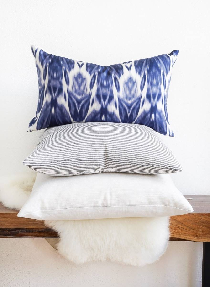 99 ways to use fabric to decorate your home   Pillow cover made from a dress