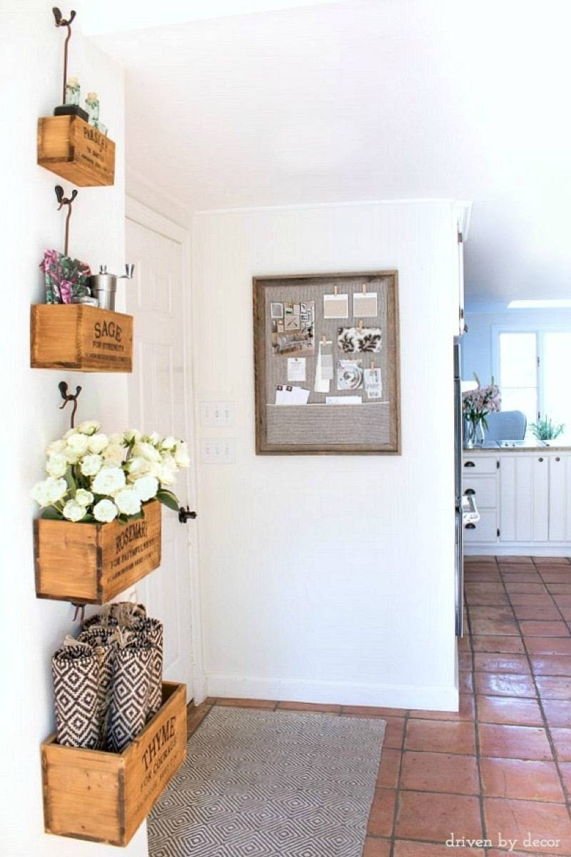 99 ways to use fabric to decorate your home   Fabric-covered cork board