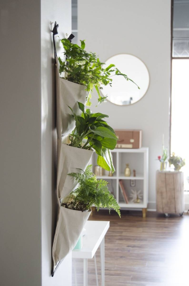 How to make a fabric hanging planter