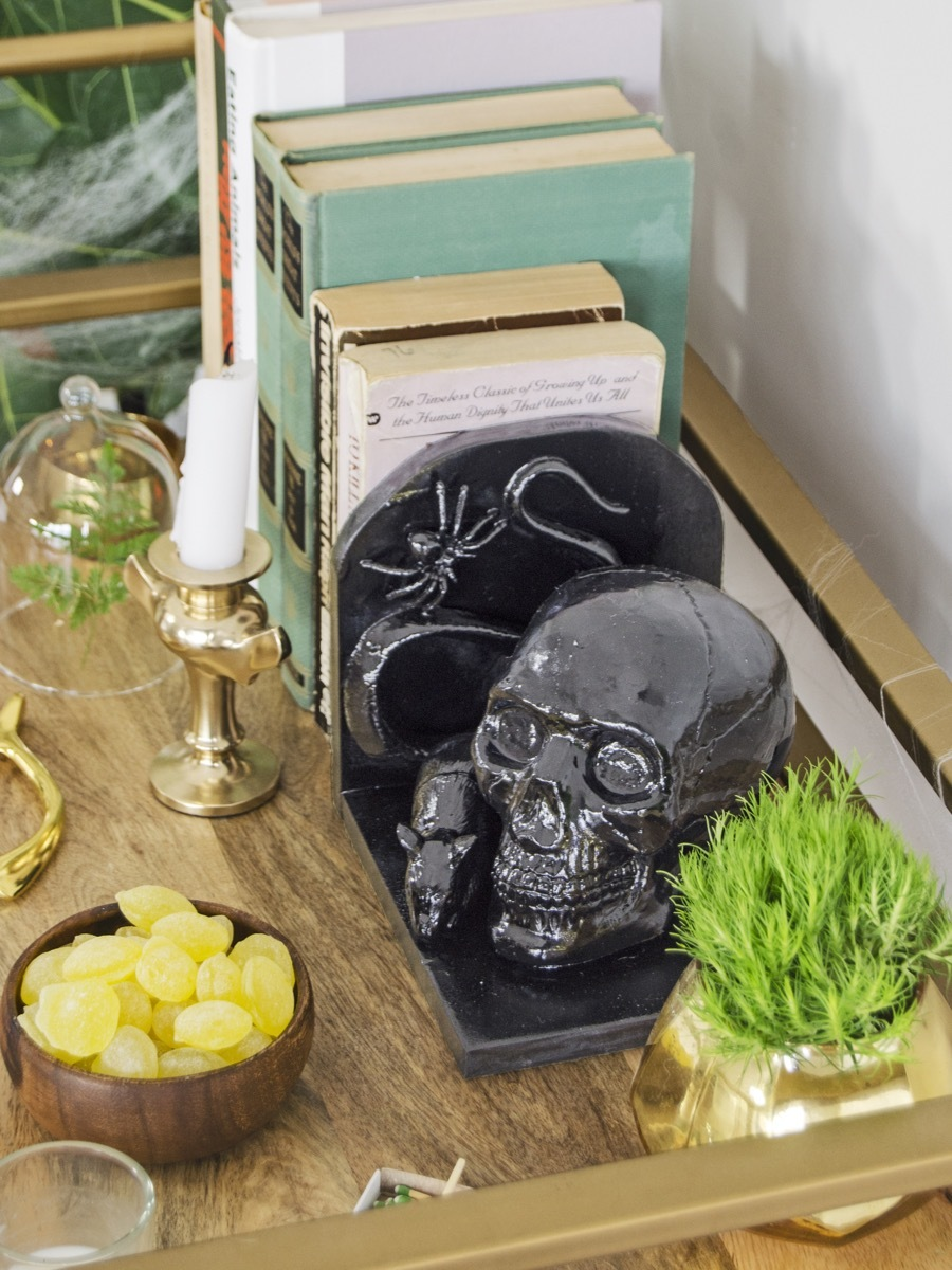 DIY This: High-gloss bookends for Halloween