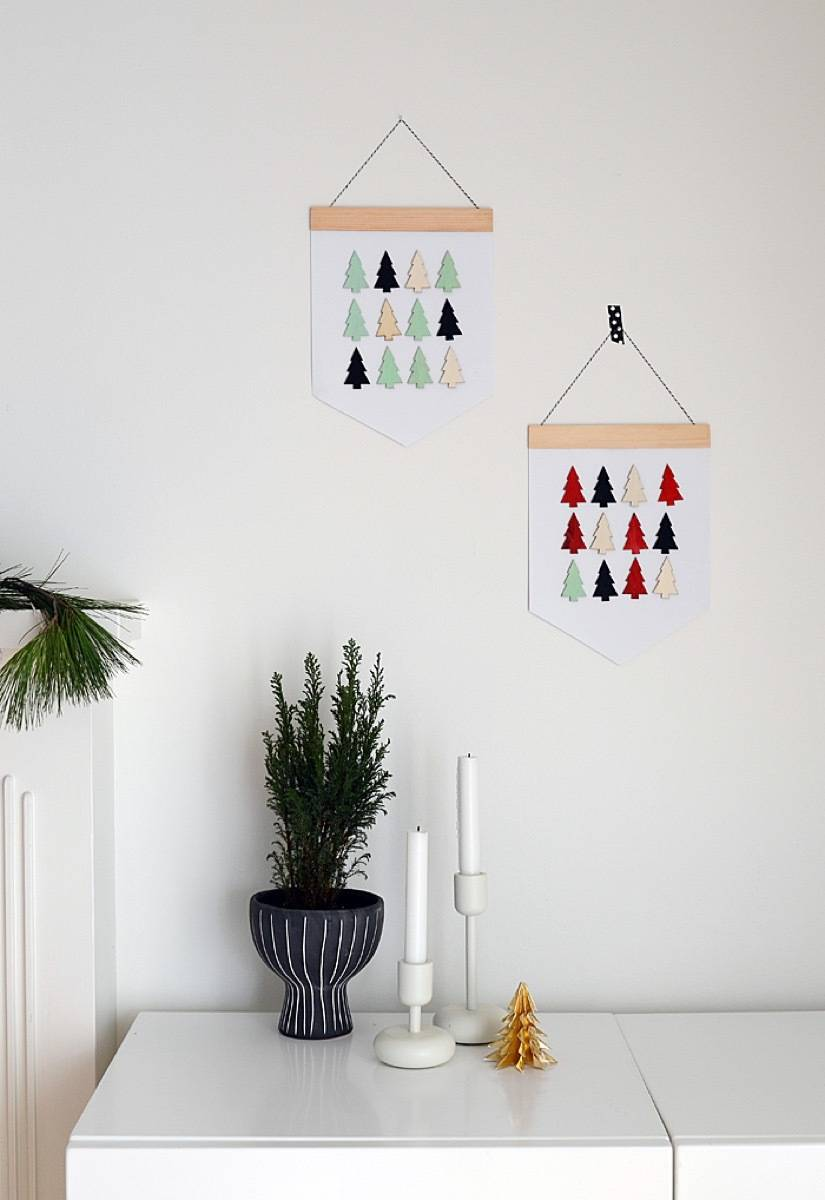 81 Stylish Christmas Decor Ideas You Can DIY | Simple holiday banners