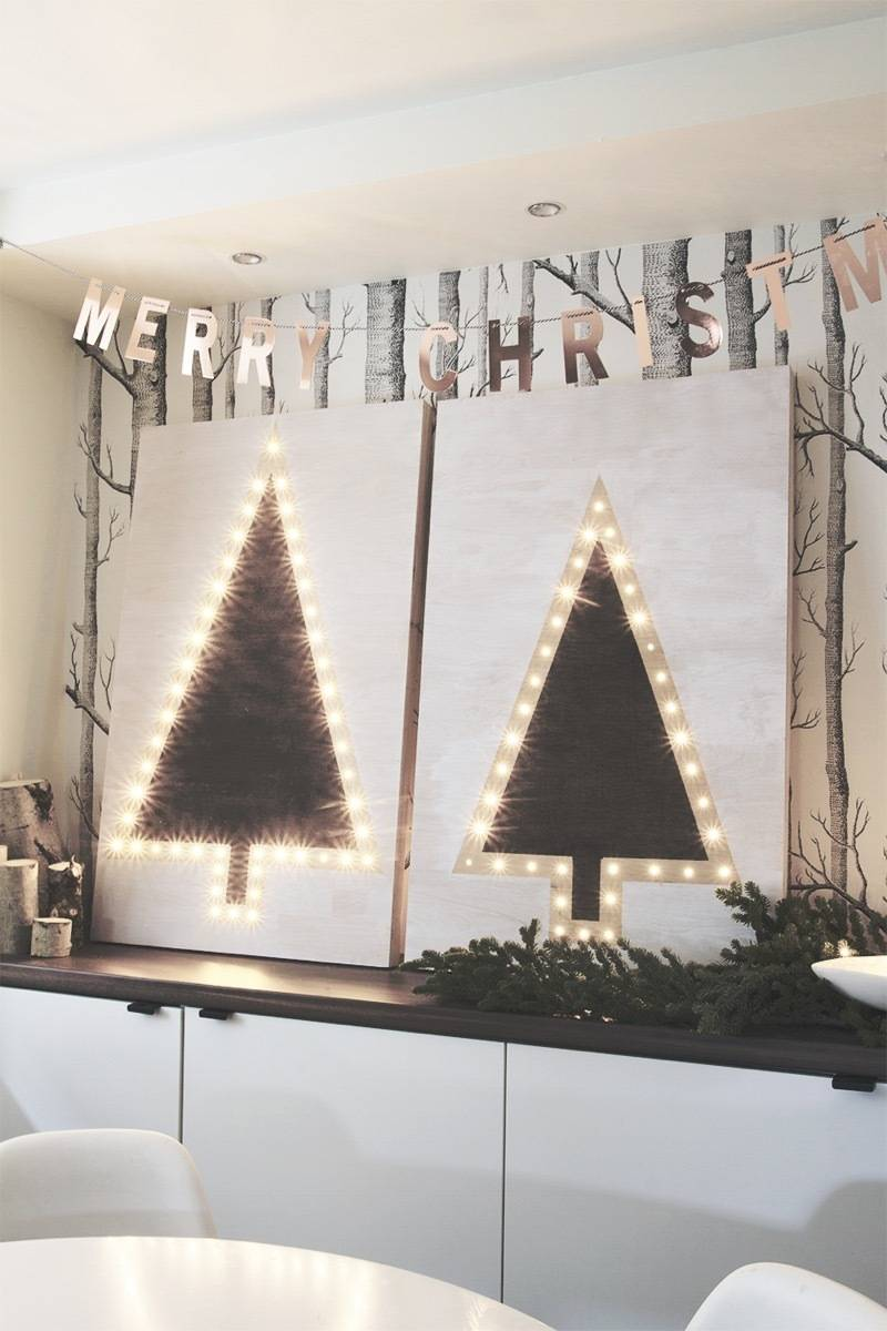 81 Stylish Christmas Decor Ideas You Can DIY | Tree marquees