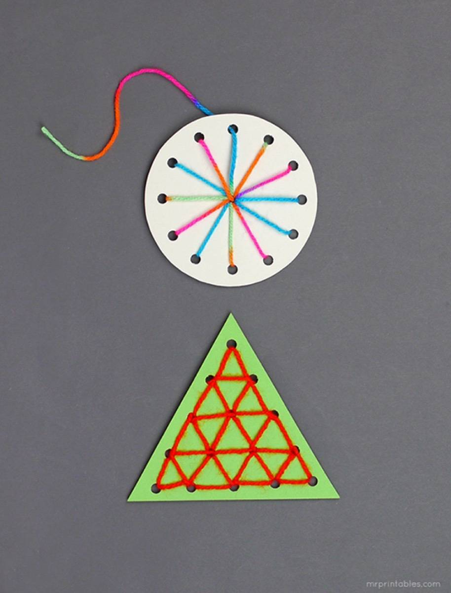Sewing card ornament