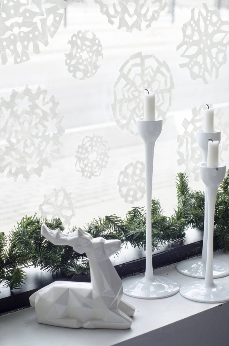How to make snowflakes out of contact paper
