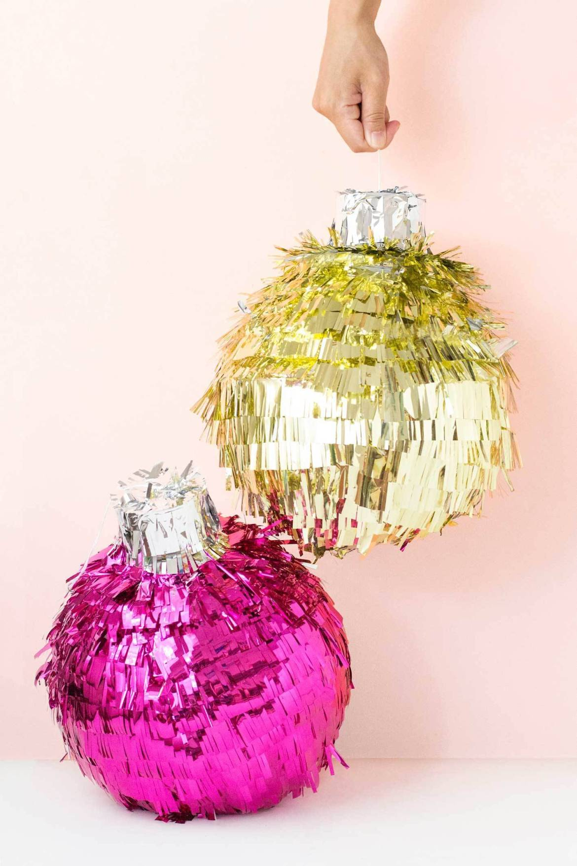 Get ready for Christmas with this DIY festive bauble piñata!