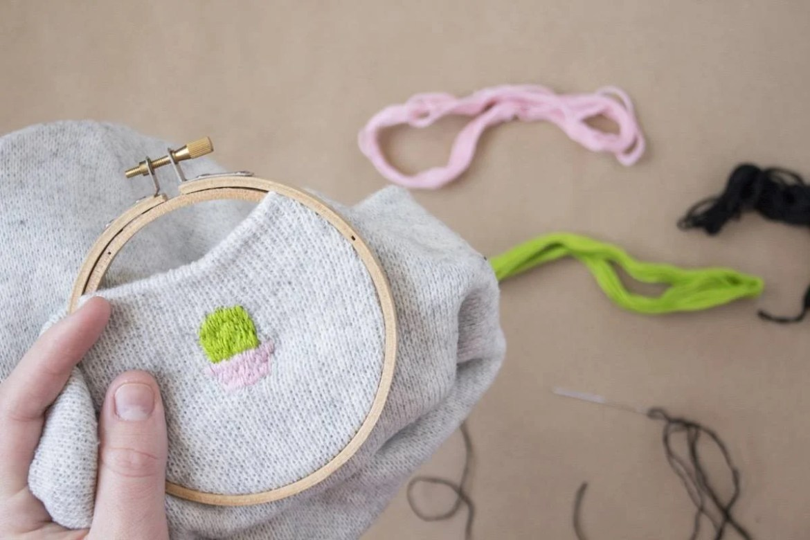 Embroidered Beanie: Step 3