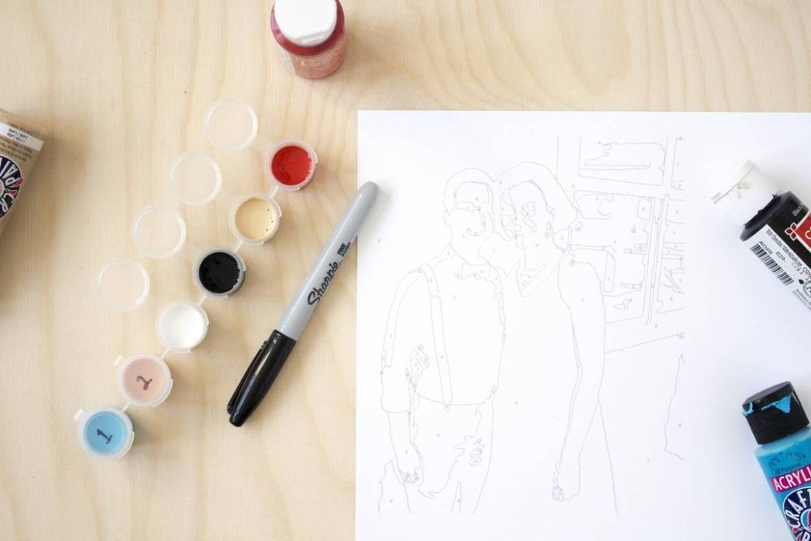 How to create a personalized paint-by-number kit