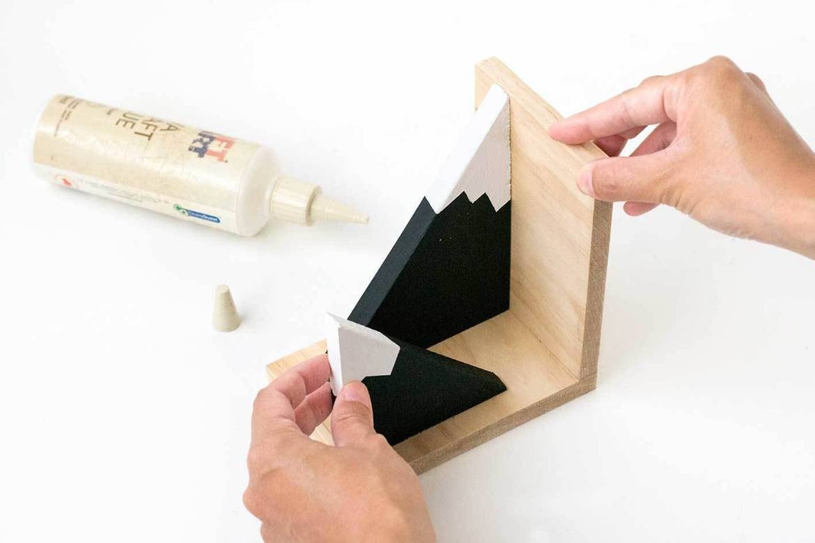 Mountain bookends - Step 7
