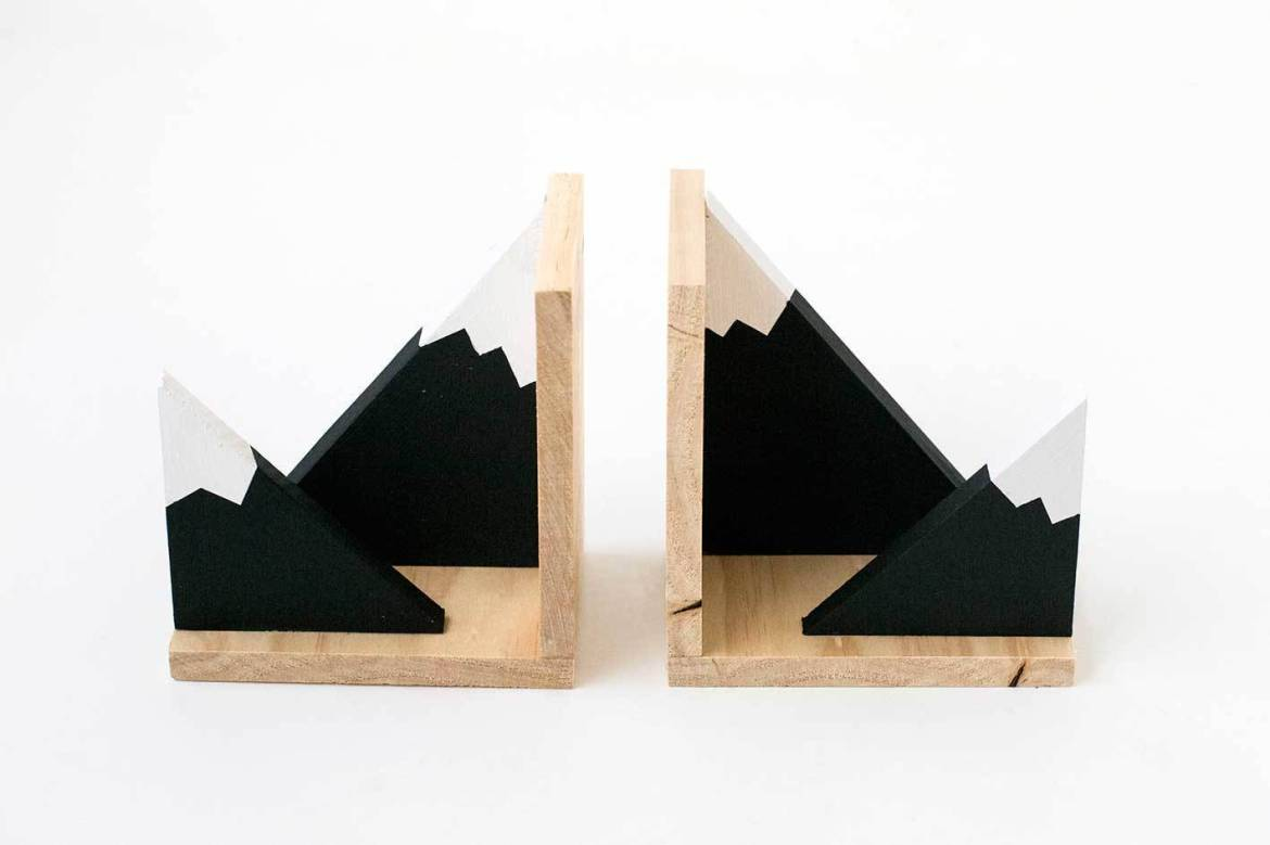 Mountain bookends - Step 8