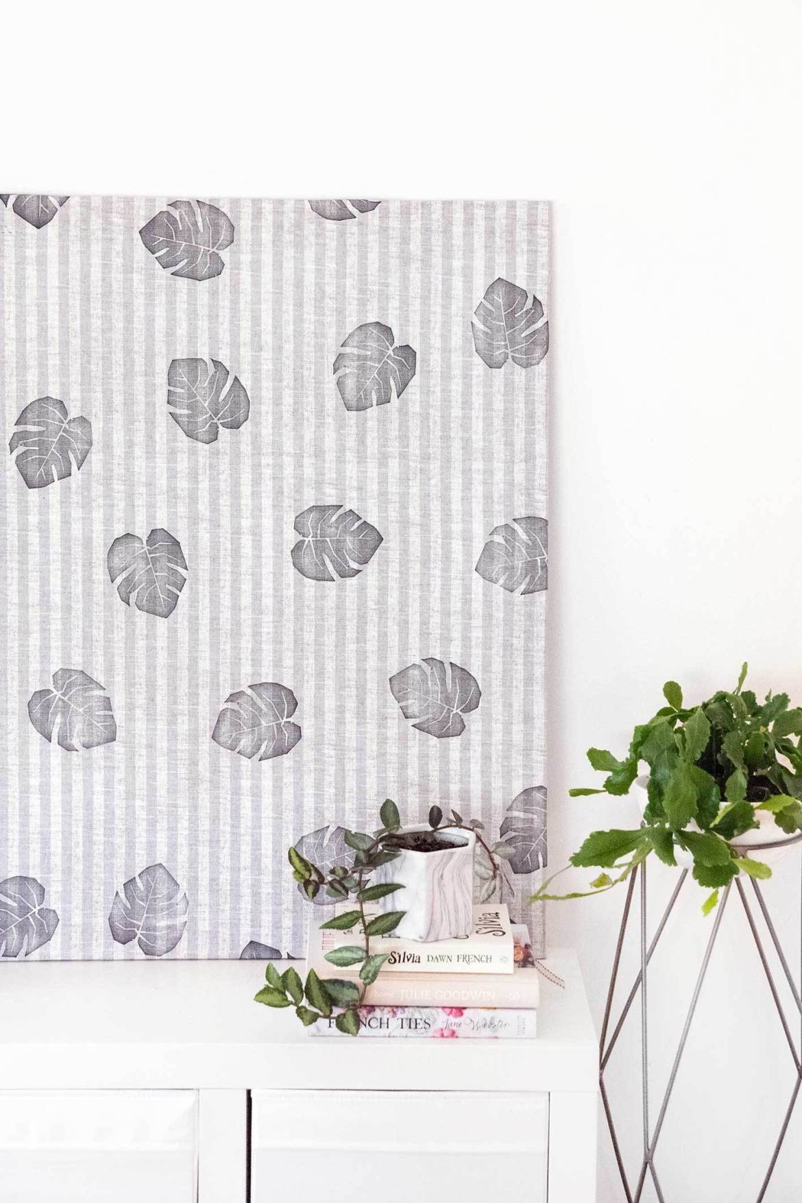 Stretched fabric wall art: An easy way to make beautiful art without breaking the bank!