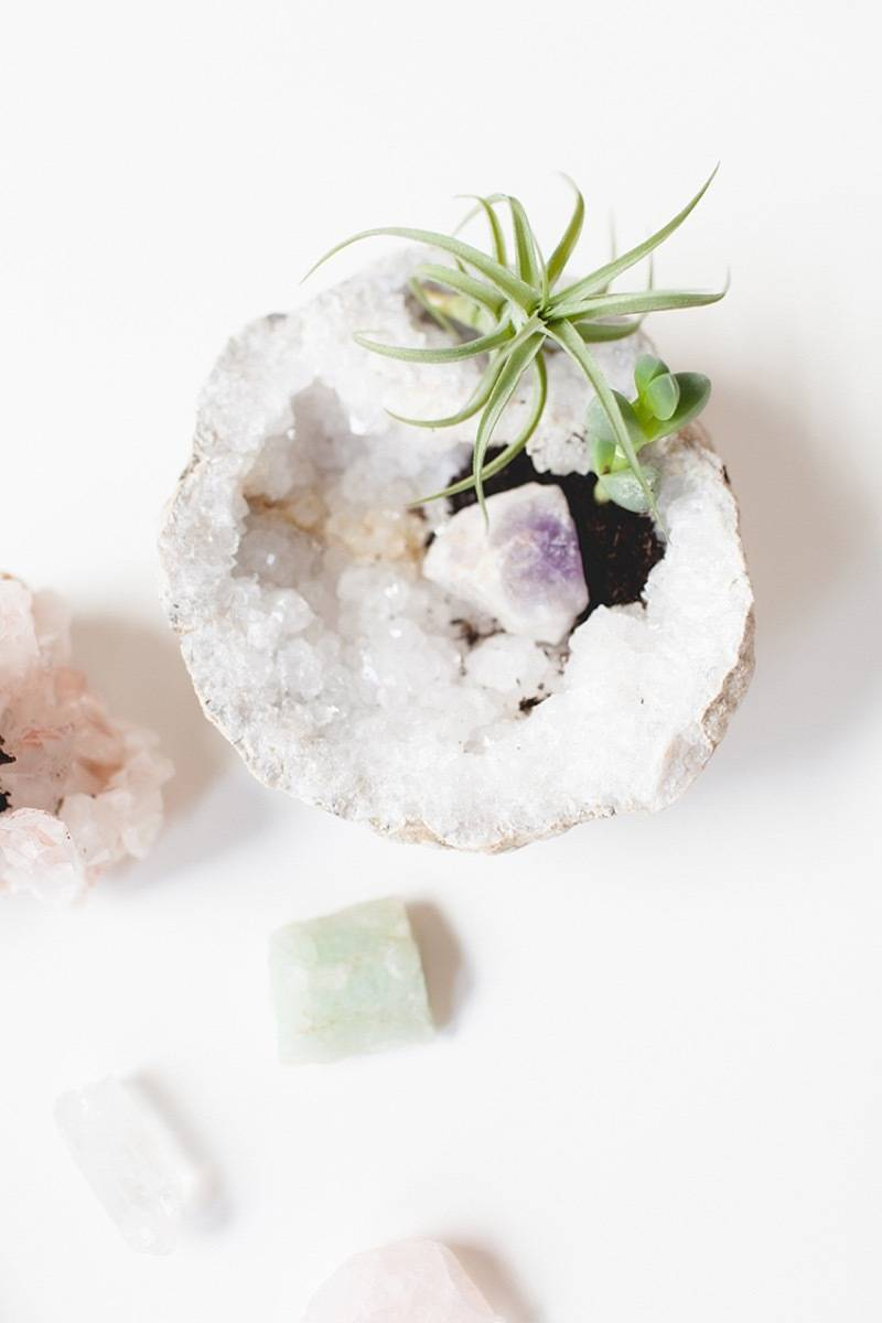 DIY Mother's Day Gift Ideas: Crystal planter