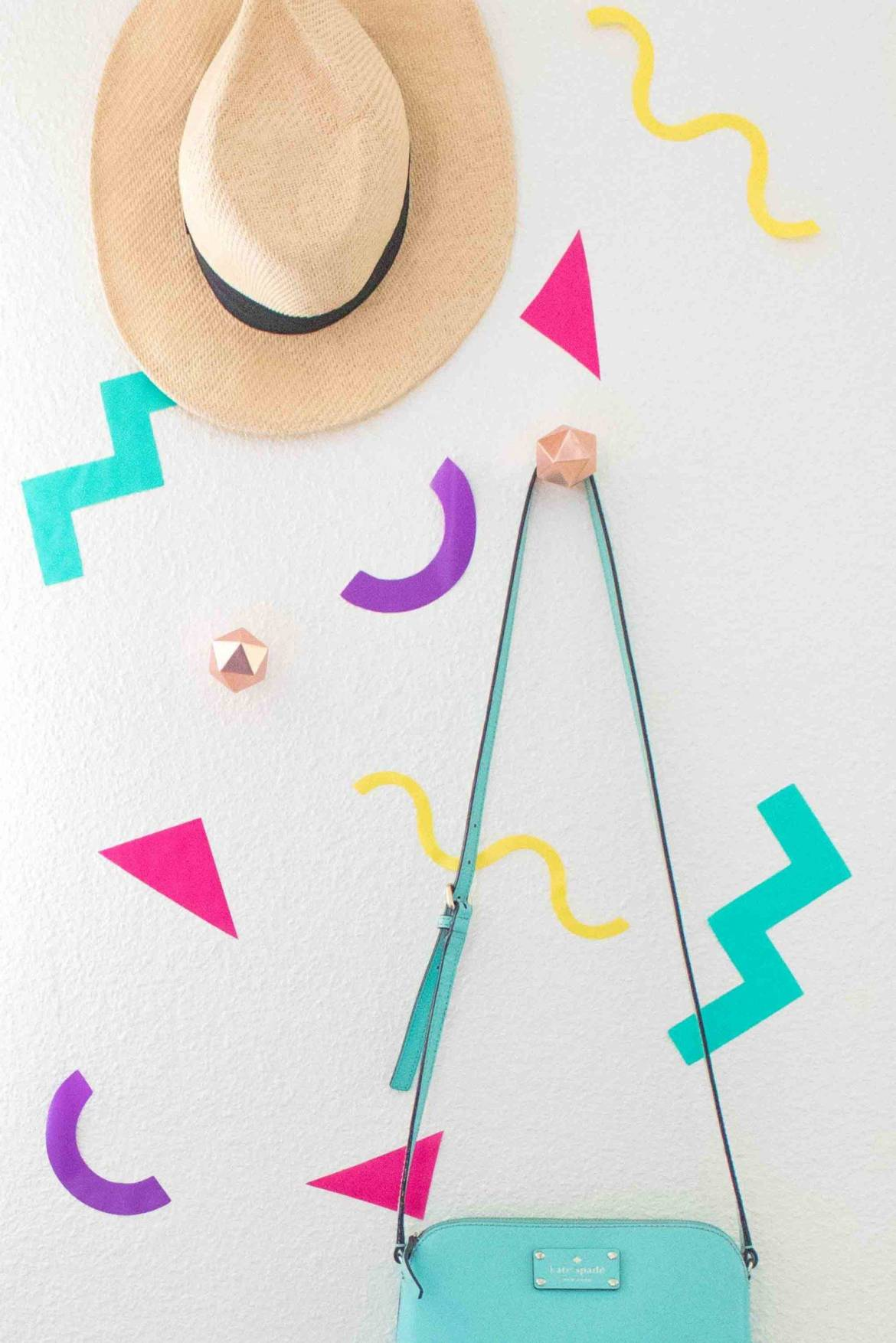 Temporary vinyl wall decals project by Holly Wade, via Curbly