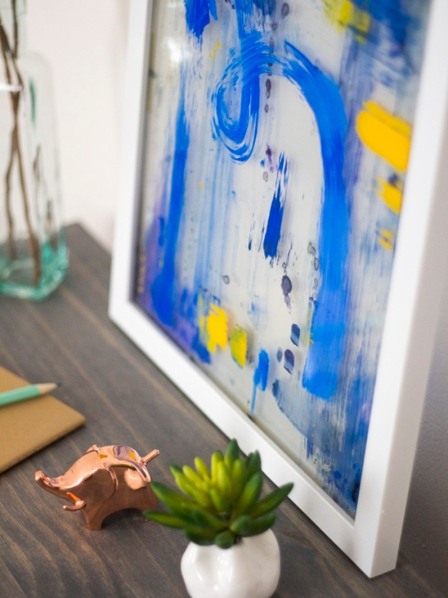 Affordable glass wall art project