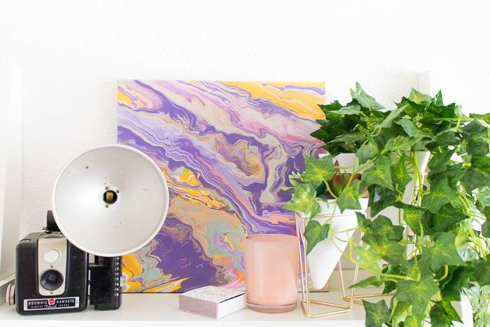 How to make marbled, abstract painting