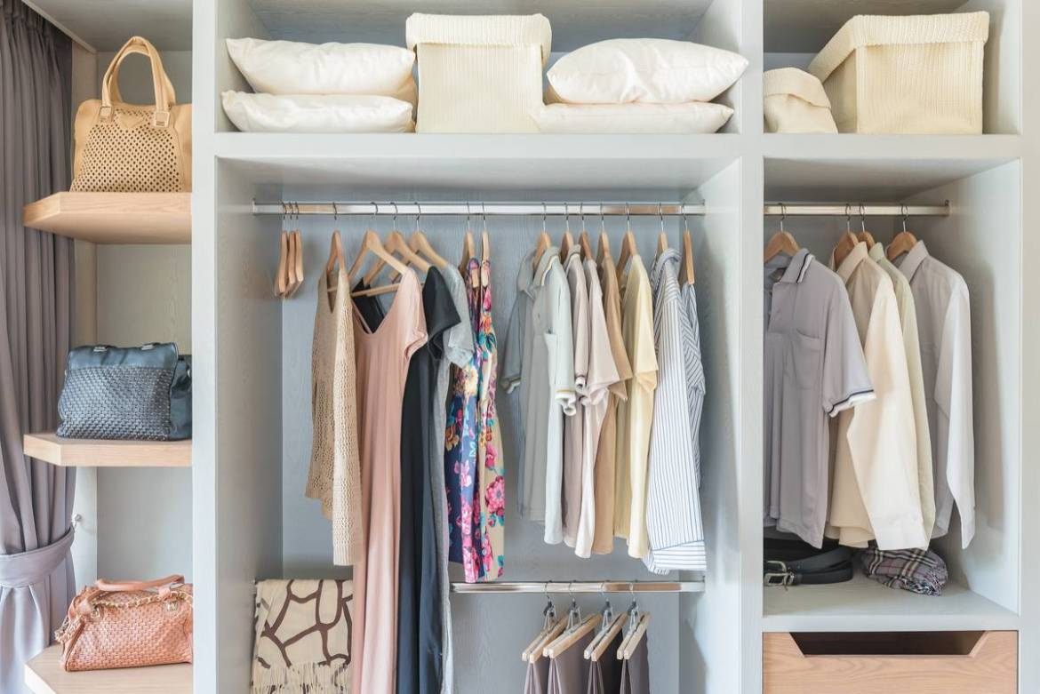 Simplify your closet with a capsule wardrobe.