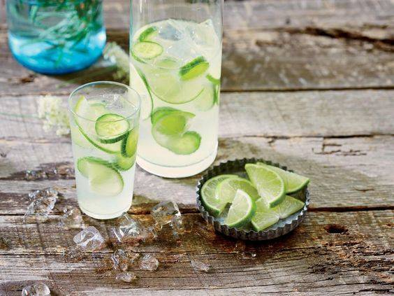 Cucumber lime gin and tonic