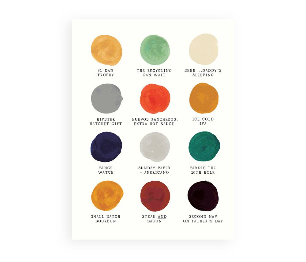 Father's Day Color Palette Father's Day card