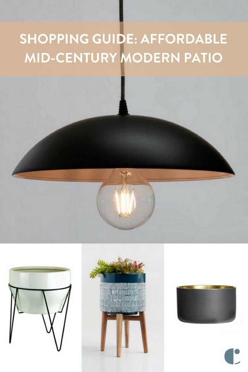 Affordable Summer Midcentury Modern Patio Shopping Guide