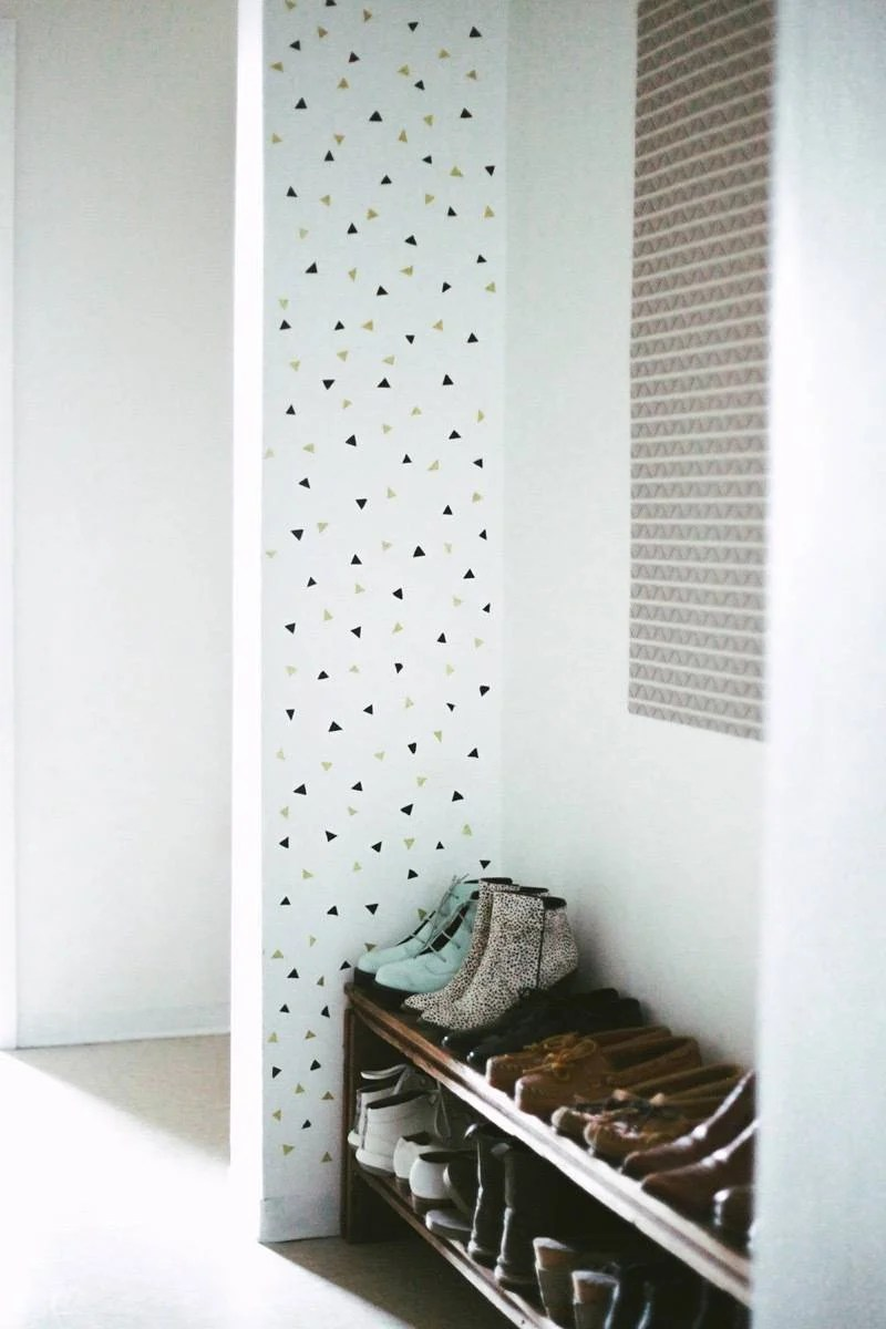 Accent wall made from washi tape