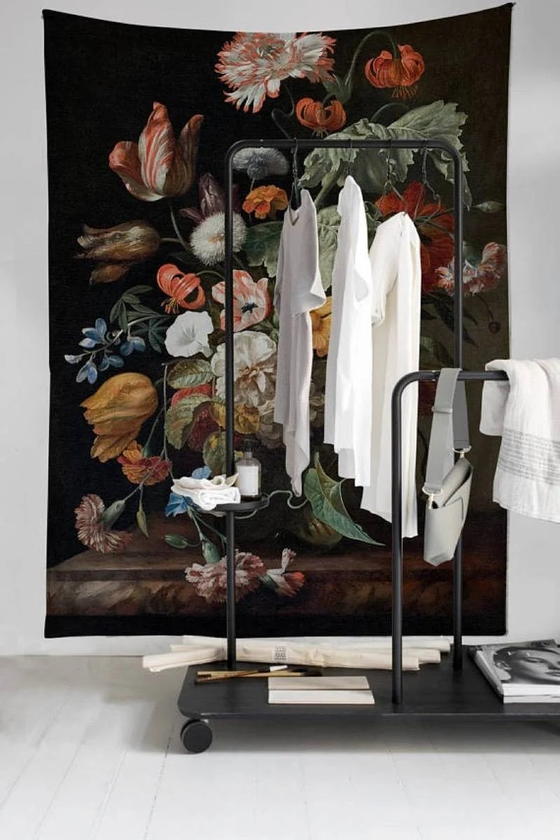 Large floral tapestry