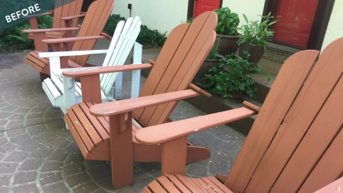 Wagner Paint Sprayer patio chair makeover