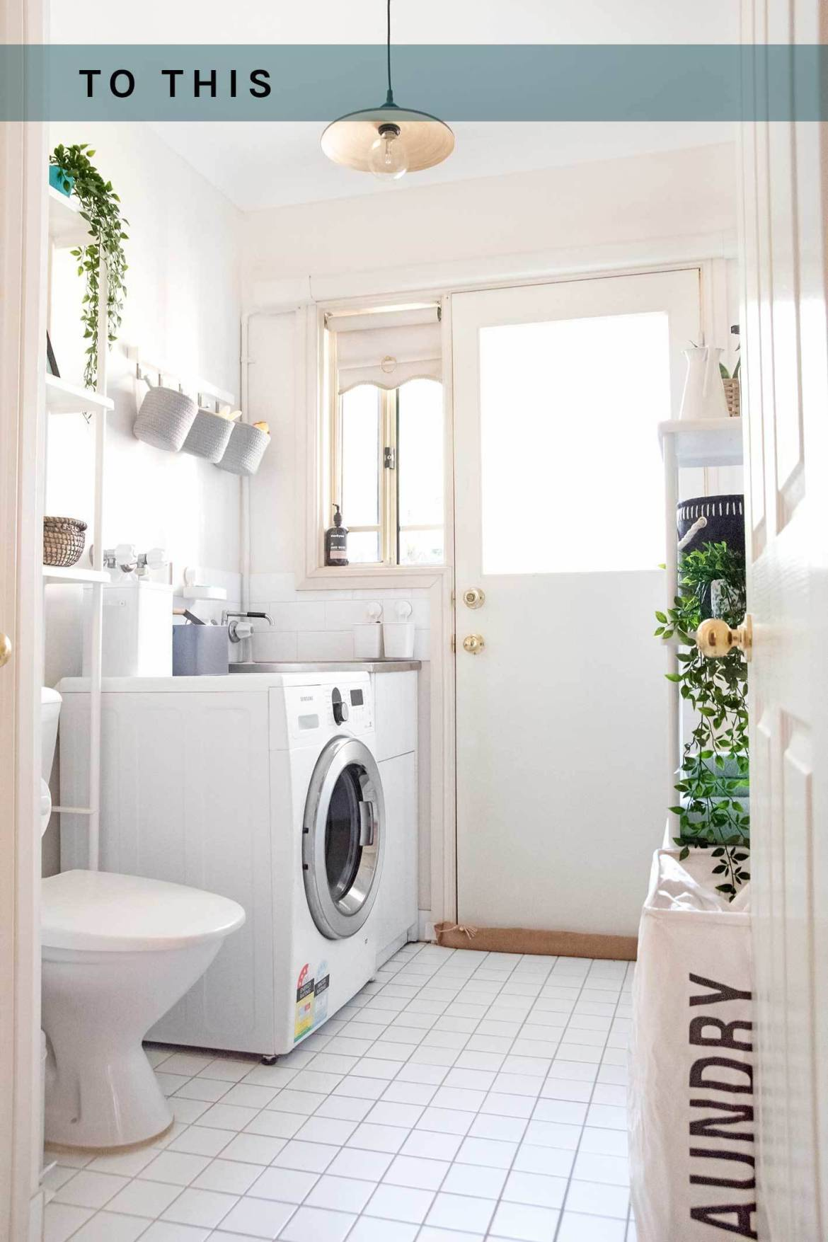 After photo of our newly organized laundry room
