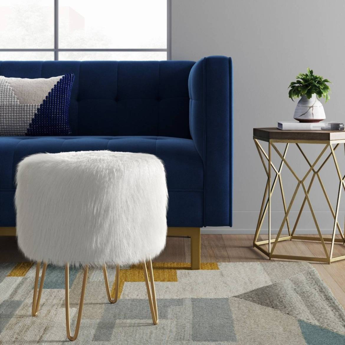 Radovre hairpin ottoman from Target
